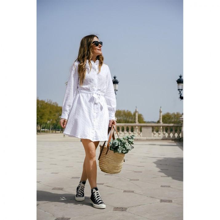 Biarritz Dress - embroidery