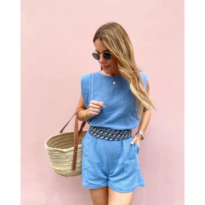 Trani Jumpsuit - Bleu denim