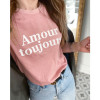 Tee Amour Toujours - Rose