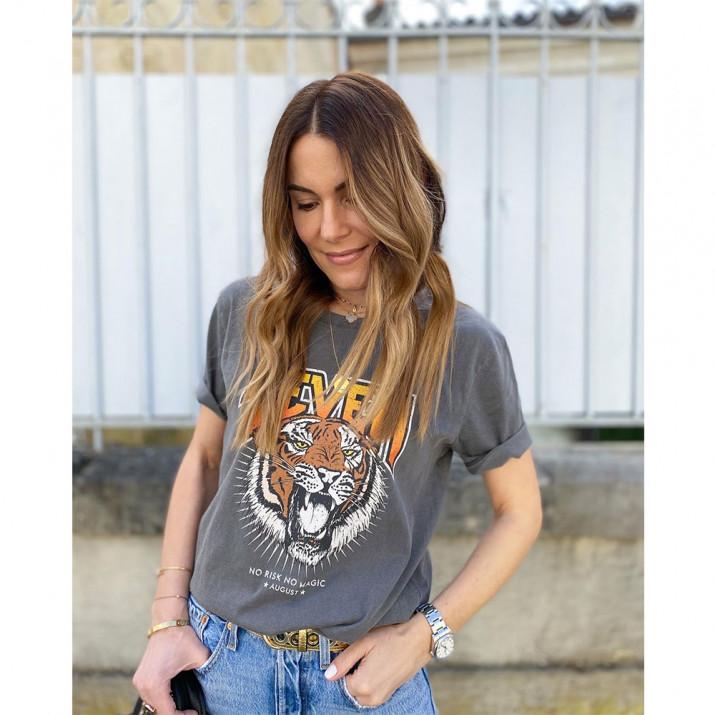 Tee-Shirt Tiger - Gris