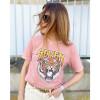 Tee-Shirt Tiger - Rose