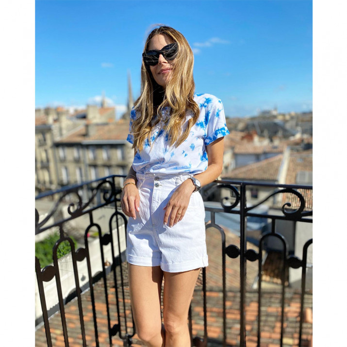 Tee-shirt SUN - tie&dye bleu