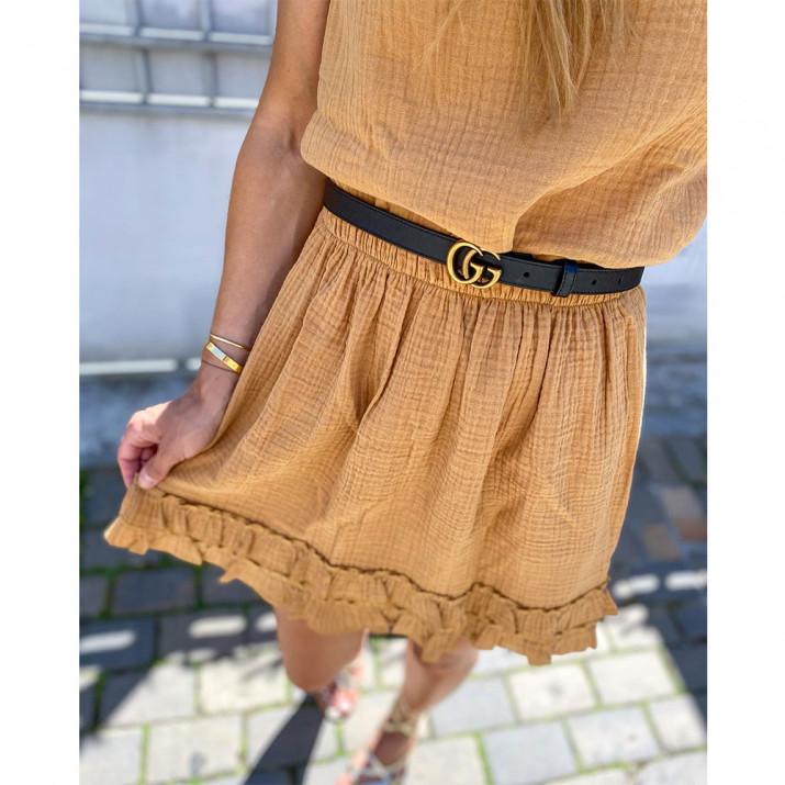 Belharra Skirt - Ocre