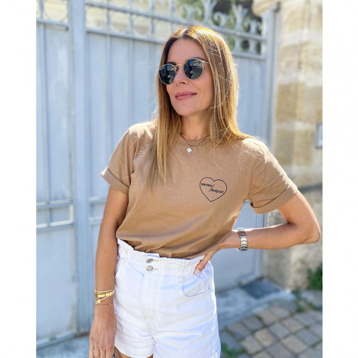 Tee-shirt BIRTH - Camel