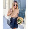 Hailey Skirt - Black linen
