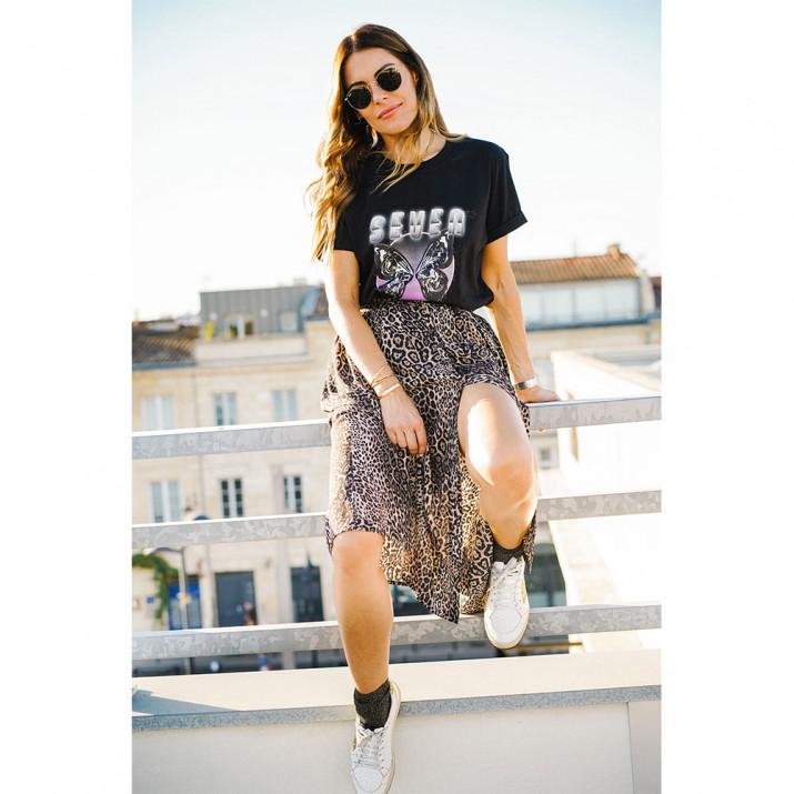 Tee-shirt Butterfly - Noir