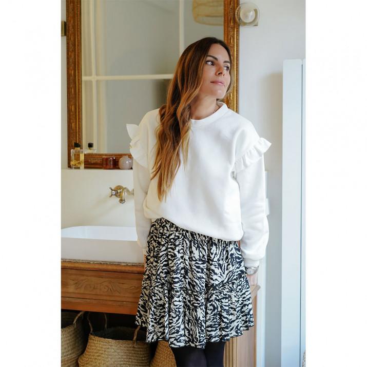 Bouquet Skirt - Zebra